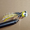 Bass Hair Popper Black/Yellow Rubberlegs