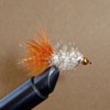 Wooly Bugger White Crystal Brown Tail Beadhead
