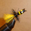 Bluegill Popper Black/Yellow Rubber Leg