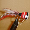 Bass Hair Popper Black/Red Rubberlegs