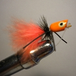 Bluegill Popper Orange/Black Rubberlegs