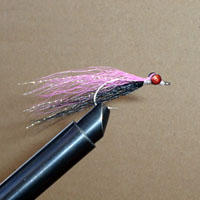 Clouser Black/Pink W/Flash