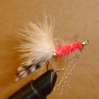 Bonefish Bugger Pink/White Bead Chain Eye