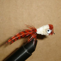 Bass Hair Bug Orange/Cream