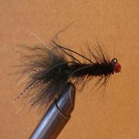 Lamar's Lead Eye Wooly Bugger Black Rubberlegs