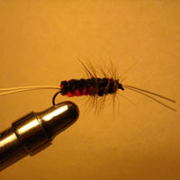 Bitch Creek Nymph Orange/Black Rubberleg