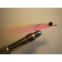 Clouser Pink/White w/Flash
