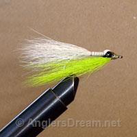 Clouser Shallow Chartreuse/White