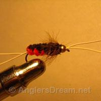Bitch Creek Nymph Orange/Black Rubberleg Beadhead